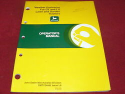 John Deere Weather Enclosure For Gt Lx Lawn And Garden Tractor Operator's Manual