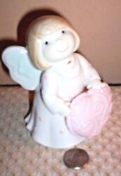 Oand039well Porcelain 5 Angel With A Pink Heart Oand039well Gifts 102