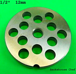 22 X 1/2 Meat Grinder Plate Stainless Steel Fits Hobart Tor-rey Lem And More