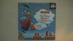 Disneyland Records Songs From Walt Disney's Mary Poppins 45 Rpm 1962