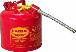 Eagle U2-51-s 5 Gallon Type Ll Galvanized Steel Safety Gas Gasoline Can W Spout