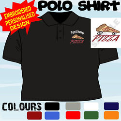 Personalised Embroidered Pizza Delivery Company Uniform Workwear T Polo Shirt