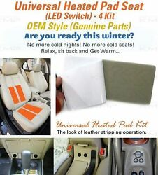 Universal Heated Pads Kit 4Seat (16Pad) Heater Car Truck SUV 12V Heating Warmer
