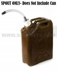 Military Fuel And Jerry Can Spout - Multi-fuel 3/4 Inch Hose With Filter