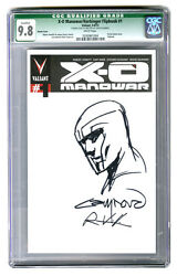 Cgc 9.8 X-o Manowar 1 Flipbook Variant W/nord Sketch And Nord Venditti Auto's