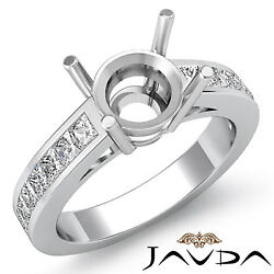 Natural Diamond Engagament Promise Ring 14k White Gold 0.5ct Round Semi Mount