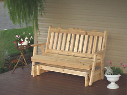 Outdoor Cedar 5 Ft Royal English Porch Glider 8 Stain Colors Made In Usa