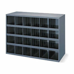 Metal 24 Compartment / Slot / Hole Storage Bin Cabinet For Nuts Bolts 356