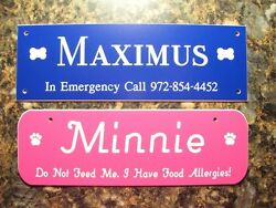Pet Crate Tags - Dog House Kennel Signs 19 Colors