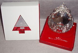 2001 Wallace First Annual Grand Baroque Angel Sterling Silver Christmas Ornament