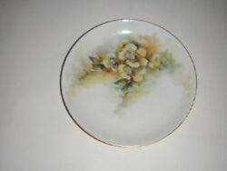 Vintage Hutschenreuther Selb Lunch Plate 6 Yellow Floral Bavaria Lhs Lion Mark