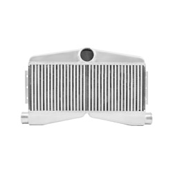 Cxracing 27.5x16x3.5 Twin Turbo Bar And Plate 2in 1out Intercooler For Mustang