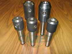 Mt3, Morse Taper 3 End Mill Tool Holders 5 Pcs- Select Sizes, Draw Bar Styles