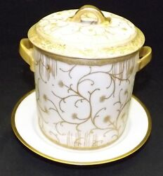 Haviland And Co. Hand Painted At Factory Condensed Milk Holder / Jar 1890 C. Field