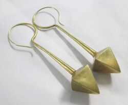 Rare Vintage Antique Ethnic Tribal Solid 18k Old Gold Earring Pair India