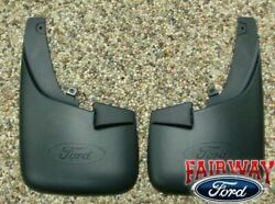 11 - 16 Super Duty F250 F350 OEM Ford Molded Splash Guards Front w Lips 2pc