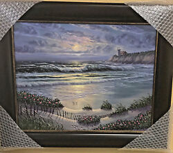 Maurice Meyer Wild Flowers And Sand Dunes Original Oil On Board 16x20