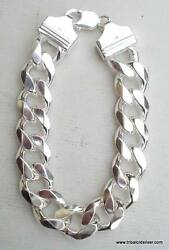 Traditional Design 925 Sterling Silver Curb Link Chain Bracelet Rajasthan India