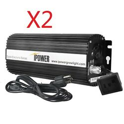 Ipower 400w Digital Dimmable Electronic Ballast For Hps Mh Grow Light 1/2-pack