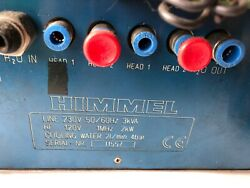 used HIMMEL HU2000 TEMPERATURE CONTROLLER 230 VAC COOLING WATER 21MIN  HOCH BA