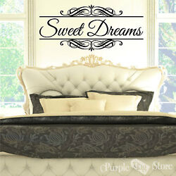 Sweet Dreams Vinyl Art Home Wall Bedroom Quote Decal Sticker Classic Decoration