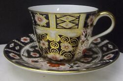 Royal Crown Derby Traditional Imari Cup And Saucer New