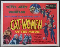 Cat-women Of The Moon Cult Sci-fi 1953 Half-sheet Best Poster On This Title