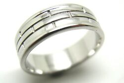 Kaedesigns New Genuine -18ct White Gold Solid Heavy Mens Brick Ring Band