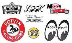 Mooneyes Traditional Decal Sticker Motorcycle Car Drag Strip Hot Rat Rod Buggy
