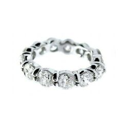 5.25 F SI1 ROUND CUT DIAMOND ETERNITY BAND RING PLT