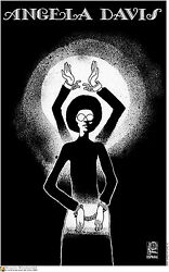 Political OSPAAAL POSTER.Free Angela Davis.Civil Right Black Panthers Art.21
