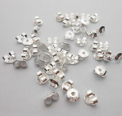 Free Shipping 100x 925 Sterling Silver Back Stoppers Earrings Jewelry Findings 1