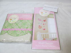 New Jill Mcdonald Lullaby Breeze Collection Window Valance And Wall Decals New