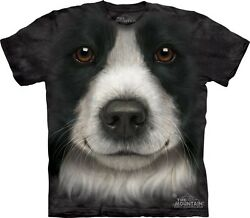 Big Face Border Collie T-Shirt from Mountain Company.  Dog Head Tees S-3XL NEW
