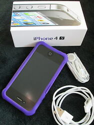 Iphone 4 S 4 Months Old. Charger, Ear Buds And Ballistic Case. In Original Box
