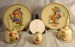 2 Goebel Hummel Annual Plates 2 Bells 1 2001 Special Edition Egg And 1 Medallion