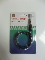 Boat Marine Am/fm Radio Antenna - No Drilling Or Mounting - Plug And Play