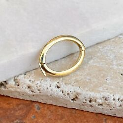 14kt Yellow Gold Pearl Shortener Clasp Enhancer Oval Bail Heavy New 17mm X 12mm