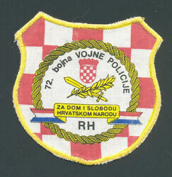 Croatia Army  72nd Battalion Of Military Police ,their First Patch From 1991
