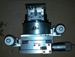 4 Axis Xyze Linear / Rotation Rotary Stage 130x130mm Cross-roller Bearing