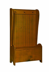 BUCKET CHEST w STORAGE BENCH and COAT RACK  Hall Hallway Amish Country Furniture