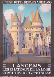 Langeais The Castles Of Loire In France Vintage Poster By Constant Duval 1927