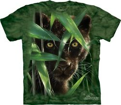 Wild Eyes T-Shirt by The Mountain. Black Panther Big Cats Tiger Sizes S-5XL New