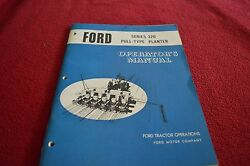 Ford Tractor 320 Pull Type Planter Operator's Manual Chpa