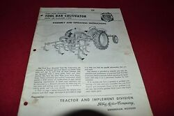Ford Tractor Rear Mounted Tool Bar Cultivator Operator's Manual Chpa