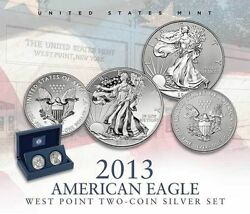2013 Ae S40 5 Ea 2- Coin Set-enhanced Unc And Reverse Proof-1st Strike Eligible