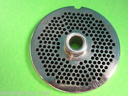 22 X 1/8 Meat Grinder Plate W/ Hub Stainless Fits Hobart Tor-rey Lem And More