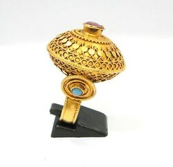 Rare Antique Collectible Ethnic Tribal Solid 18k Gold Ring Rajasthan India