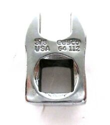 Easco Tools Crowfoot Wrench, Chrome, 3/8 In Dr, 3/8 Made In Usa 64112