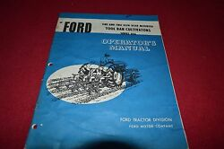 Ford Tractor 406 Tool Bar Cultivator Operator's Manual Chpa Blue